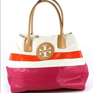 Tory Burch Dipped Canvas Tote